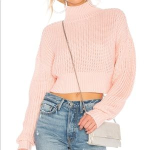Lovers + Friends pink turtleneck